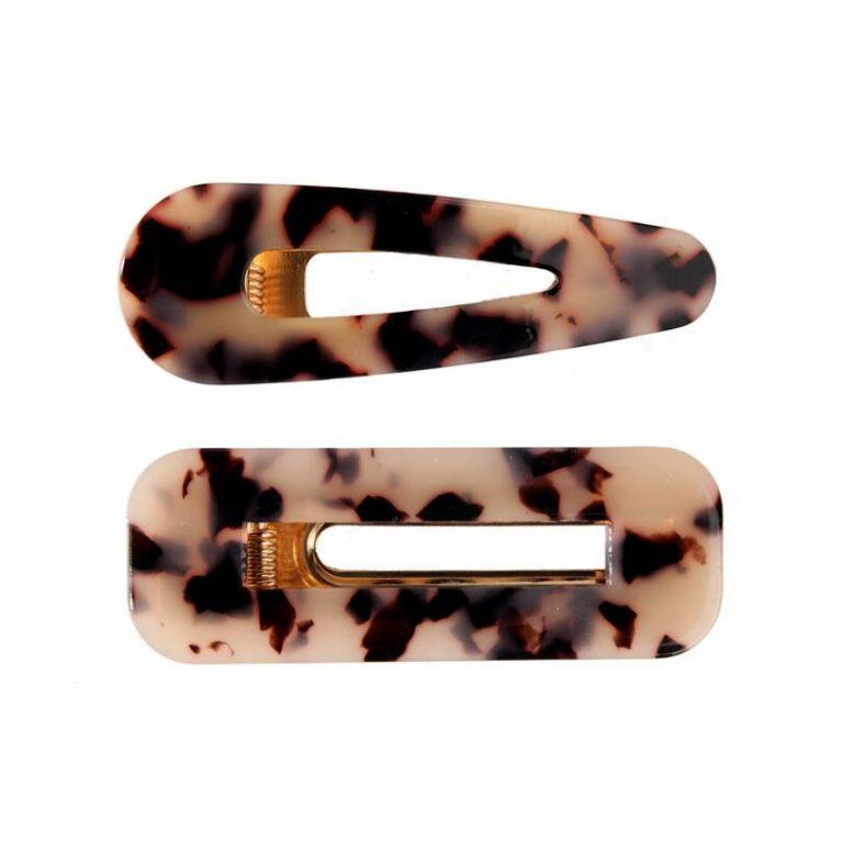 Cow print hair clips- eBay