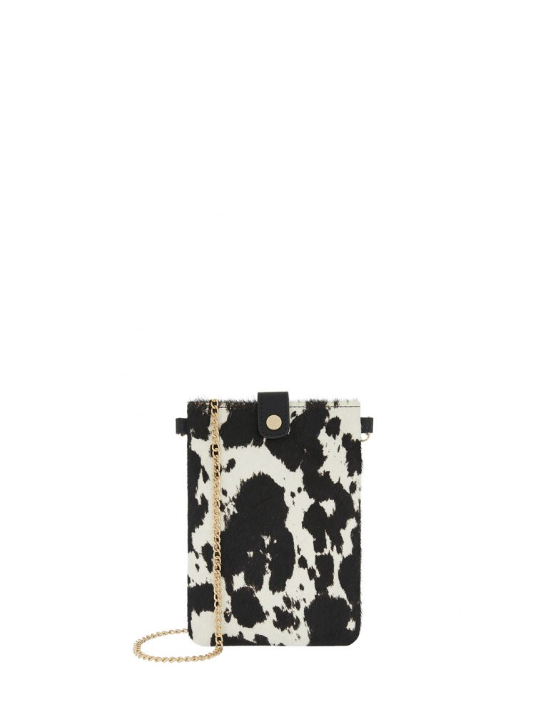 Cow print phone pouch- Accessorize