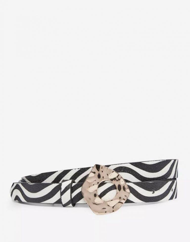 Cream zebra print belt- Dorothy Perkins