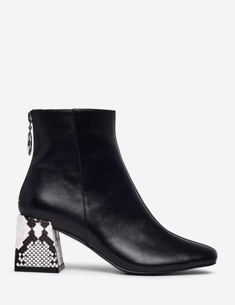 Lola Skye black animal print 'London' ankle boots- Dorothy Perkins