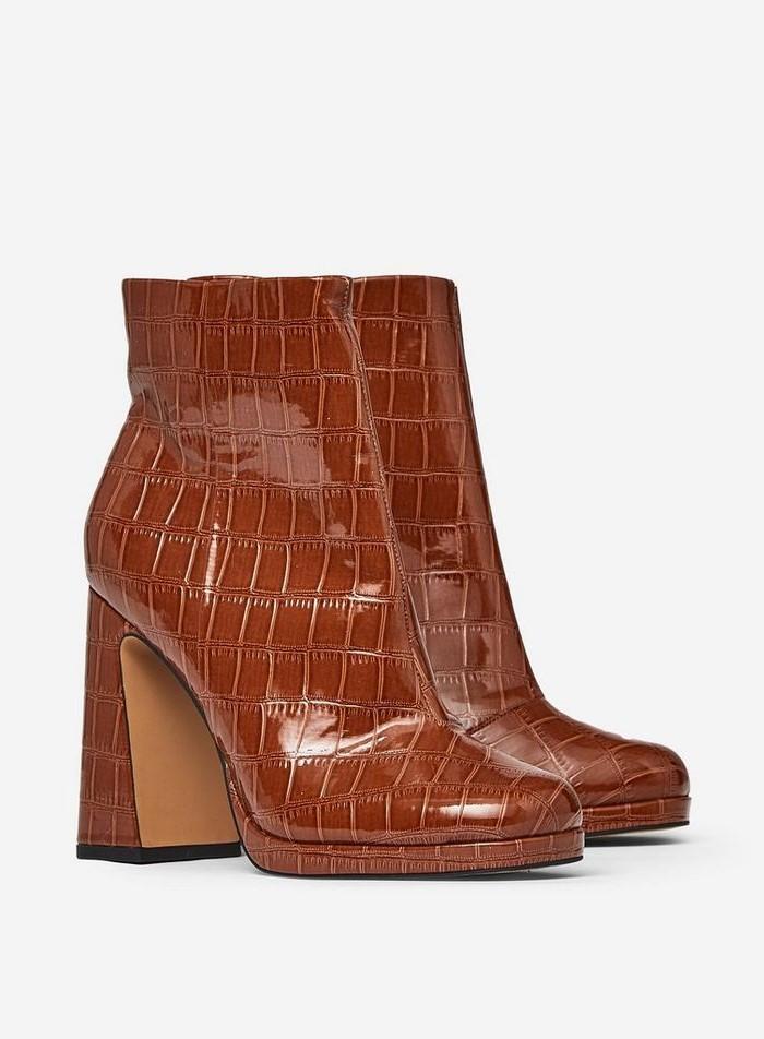 Lorde croc print boots- Dorothy Perkins