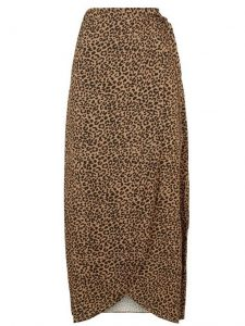 Tall brown leopard print wrap midi skirt- New Look (2)
