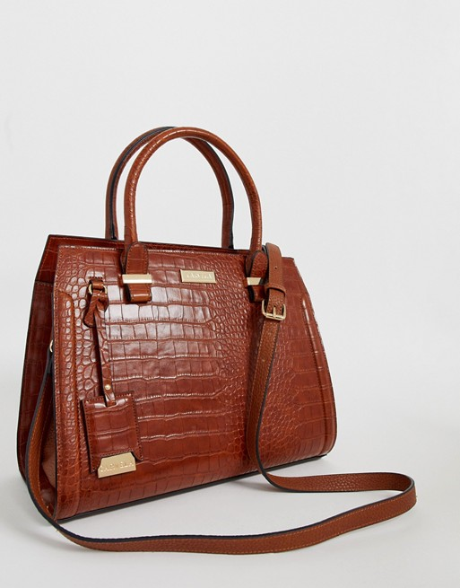 Tan croc print bag- Carvela