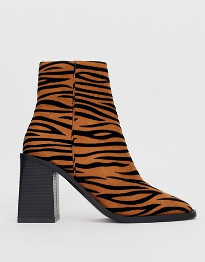 Tiger print heeled ankle boots- Head over Heels, available from Asos (2)