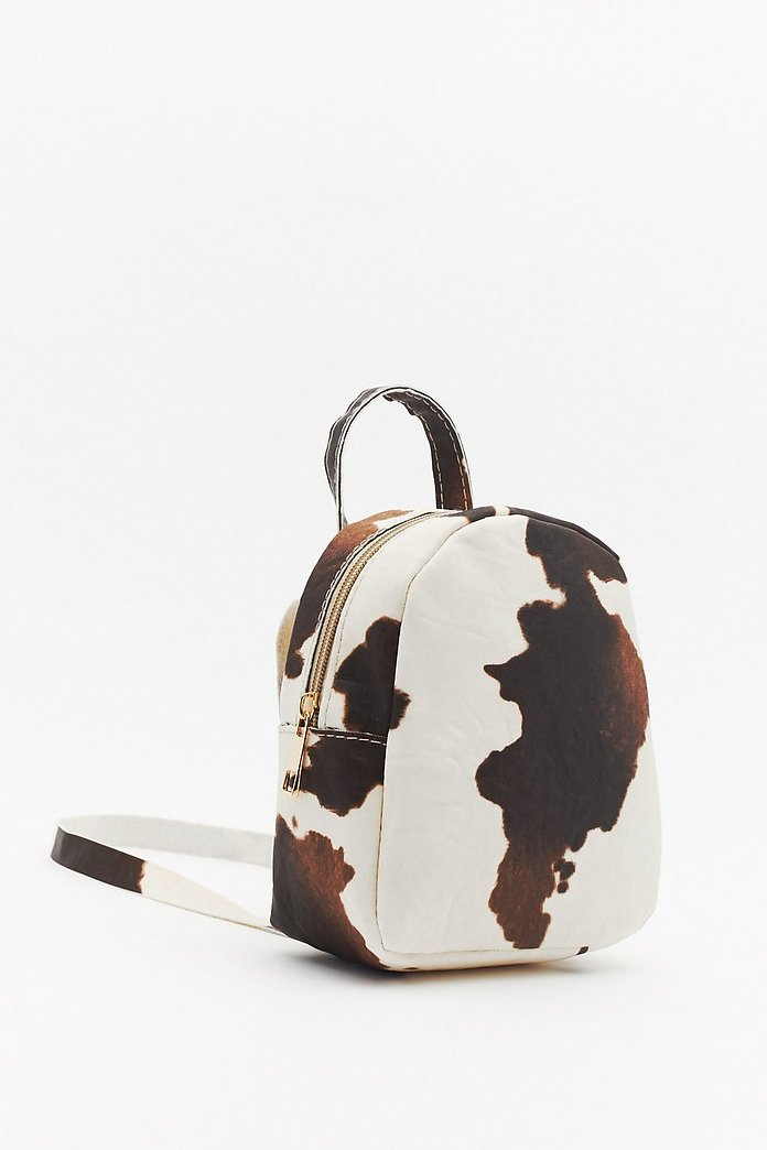 WANT Cow Will I Know Mini Backpack- Nasty Gal
