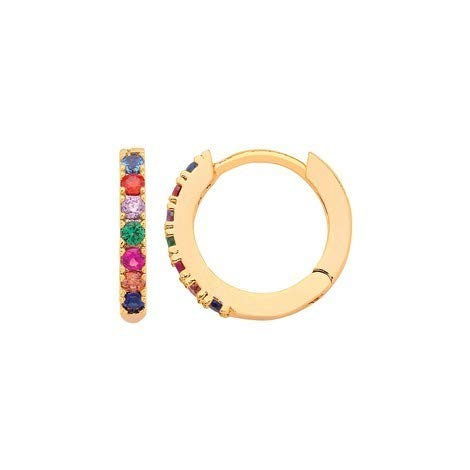 Estella Bartlett gold plated rainbow earrings- Amazon