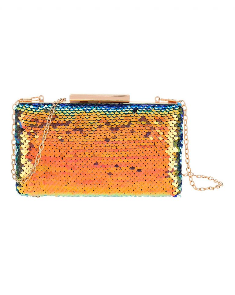 Iridescent sequin clutch- Marisota
