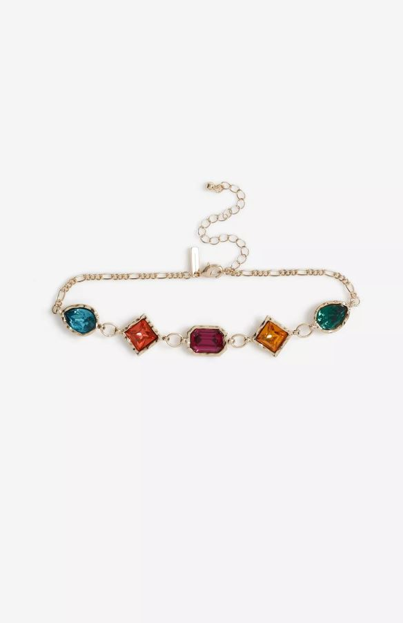 Multicoloured Stone Choker- Topshop