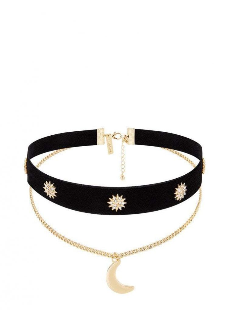 Skinny Dip Moon and Star Choker- Asos