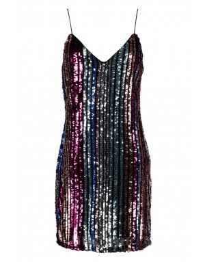 Tall sequin stripe cami dress- Boohoo
