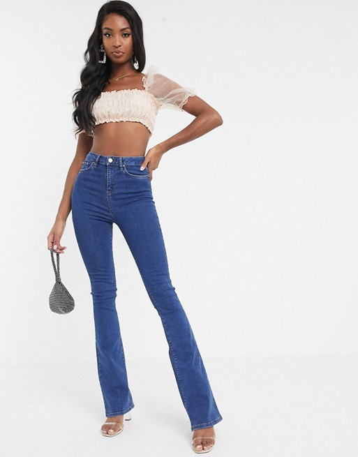 Asos tall sculpt me bell flare jeans