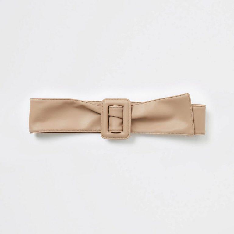 Beige sash soft waist belt
