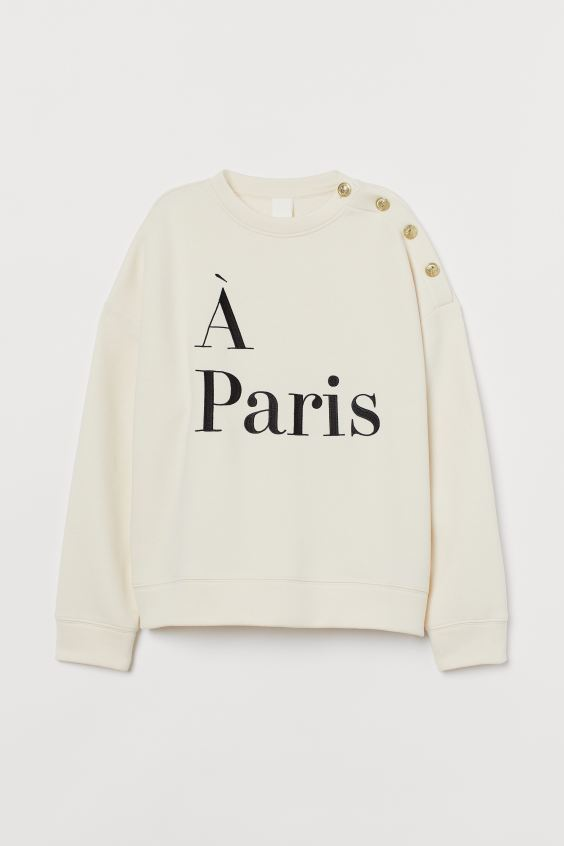 Text motif sweatshirt
