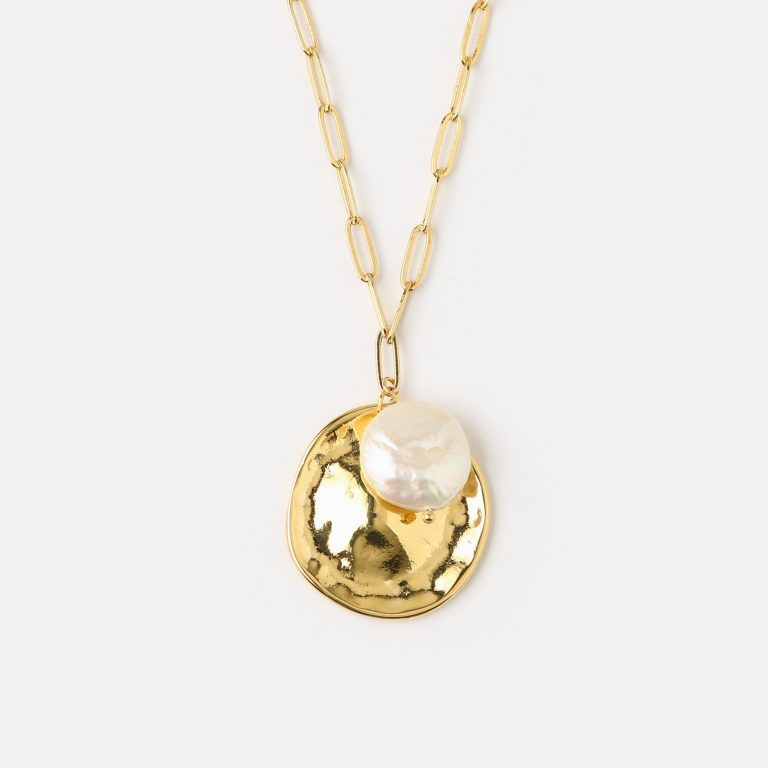 Molte coin pearl cluster necklace