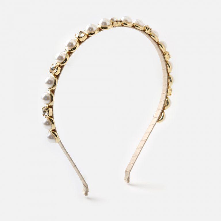 Pearl stone headband