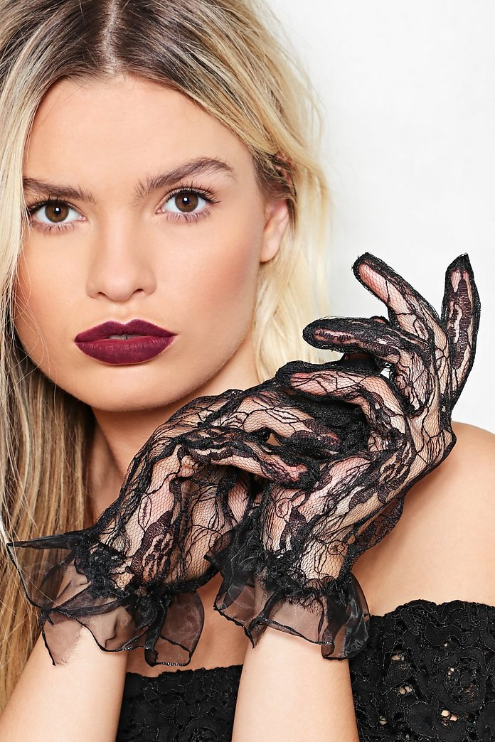 In safe hands lace gloves